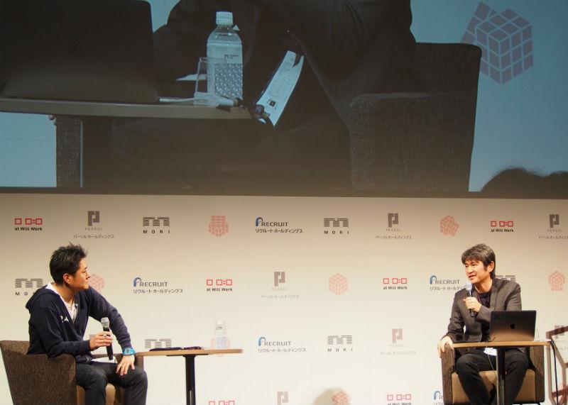 水口哲也氏(右)と、北澤直氏(左)のトークセッションが行われた