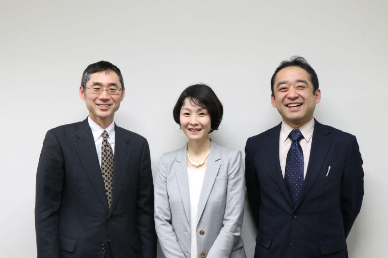 黒岩健一郎先生、広瀬彩さん、須田真魚さんの3人。