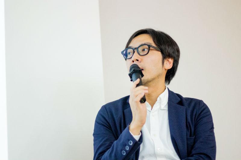 PR視点で企業価値を高める 「インハウスエディター 」の役割の様子。登壇者のサイボウズ・藤村能光さん
